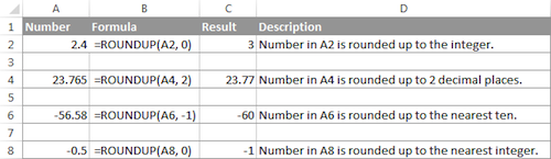 Excel-ROUNDUP-Function